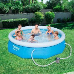 Bestway Zwembad met opblaasbare rand 305 cm met filterset