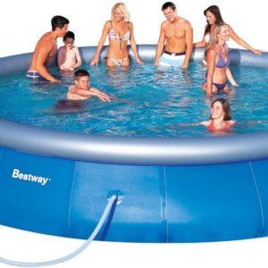bestway opblaasbaar zwembad 549 cm inclusief 12v filterpomp